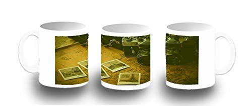 MERCHANDMANIA Taza FOTOLUMINISCENTE Camara Vintage Retro Zenit Glow mug
