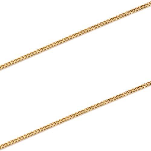純金 喜平 ネックレス 2面 1.5g - 42cm 引輪 ゴールド メンズ レディース チェーン K24 造幣局検定マーク刻印入