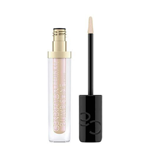 Catrice Generation Plump & Shine Lip Gloss, Lipgloss, Nr. 090 Golden Zircon, nude, vergrößernd, langanhaltend, scheinend, schimmernd, vegan, ölfrei, ohne Alkohol (4,3ml)
