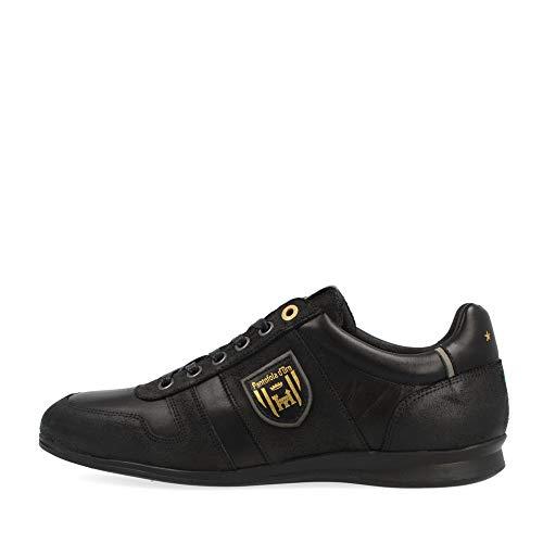 Pantofola d'oro, sneaker da uomo Asiago, con combinazioni di colore nero, Nero (Nero ), 43 EU