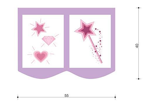 XXL Discount Sac de rangement pour lit d'enfant - Dimensions : 55 x 40 cm - 100 % coton - Accessoires de lit - Lit superposé - Lit mezzanine - Sac en tissu (violet/blanc, licorne)