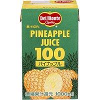 デルモンテ パイナップルジュース 100% 1000ml パック