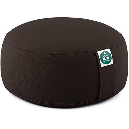 Present Mind Zafu Cuscino Meditazione Tondo (Altezza 16 cm) - Colore: Giallo Miele - Cuscino Zafu Yoga / Cuscino Yoga - Prodotto nell'UE - Fodera Lavabile - Cuscino Yoga Meditazione 100% Naturale