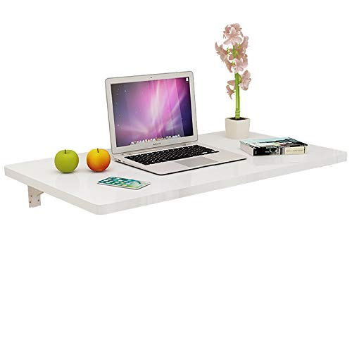 Modern and Minimalist Folding Table,Small Space Saving Wall-mounted Computer Desk,Multifunctiona Floating Desk,Max Load 50Kg,for Office,Bedroom,Kitchen
