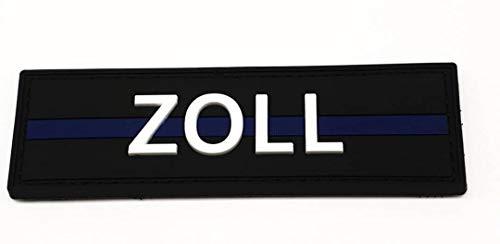 Polizeimemesshop Zoll Thin Blue Line PVC Patch