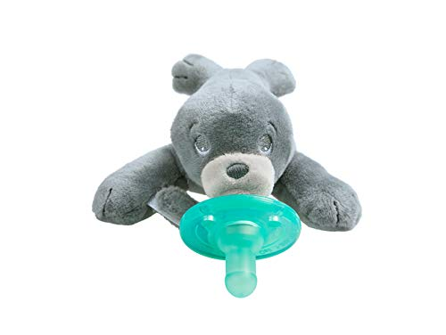 Philips Avent Soothie Snuggle Pacifier Holder with Detachable Pacifier, Seal, 0m+