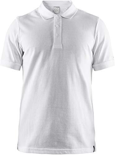 Craft Polo pour Homme Casual Polo Pique M Blanc XL