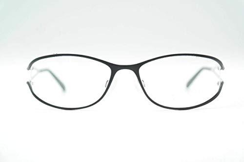Charmant CH10890 Pure titanium zwart wit ovaal bril brilmontuur nieuw