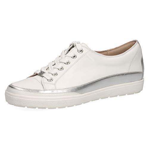 CAPRICE Damen Halbschuhe, Frauen Low-Top Sneaker,Weite: G (Normal),Freizeitschuhe,weiblich,Lady,Ladies,Women's,Woman,White Nappa,37.5 EU / 4.5 UK