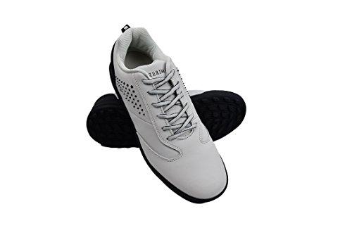 Zerimar Zapatos de Golf Hombre | Zapatos Hombre Deportivos | Zapatos Hombre Golf | Zapatillas Deporte Hombres | Zapatillas de Golf Hombre | Zapato Golf Piel | Color Gris Claro Talla 40