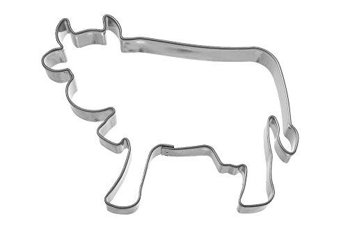 Famous Design Ausstechform Kuh, Edelstahl, Silber, 7.7 x 5.8 x 1.5 cm