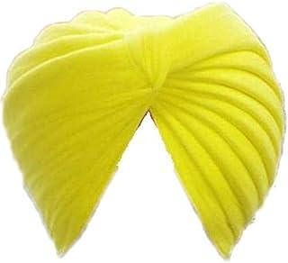 Style OK Sikh Turban Cotton Rubia Voile Patka Pagri Dastar Fabric Yellow 6.5 Meter