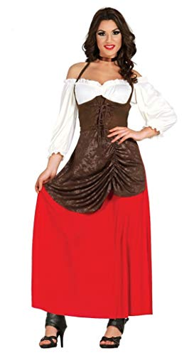 Guirca Halloween Disfraz Adulta Tabernera T/42-44, Colores (80851)
