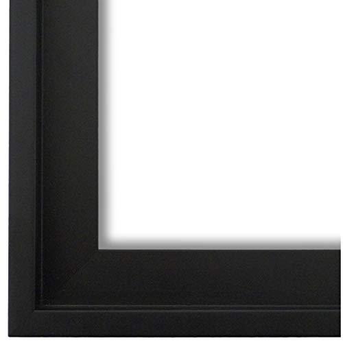 Schattenfugenrahmen Bilderrahmen Schwarz 60 x 80 - 60 x 80 cm - Modern, Shabby, Vintage - Alle Größen - handgefertigter Holz Rahmen für Bilder - Leinwand auf Keilrahmen oder Platte - LR - Udine