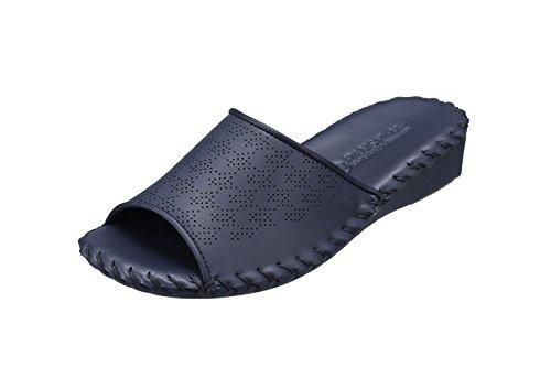 [パンジー] ルームシューズ スリッパ 室内履き 履きやすい 手編み 滑り止め付き PN9408 レディース ネイビー 22.0~22.5 cm