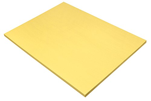 """Pacon SunWorks Construction Paper, 18"""" x 24"""", 50-Count, Yellow (8417)"""