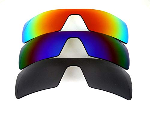 Galaxy Replacement Lenses For Oakley Oil Rig Black&Blue&Red Color Sunglasses 3 Pairs Polarized