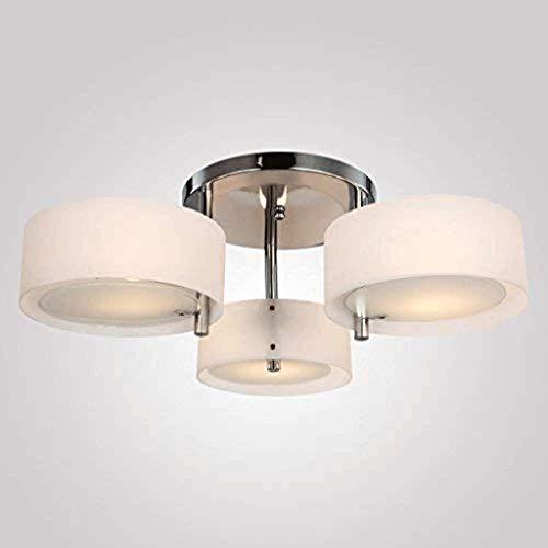 DYXYH Página de inicio Lámpara colgante de techo de tela clásica con bombillas de bronce oscuro