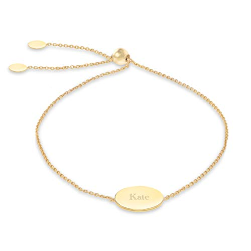 Carissima Gold Women's 9ct Yellow Gold 12mm Disc Trace Chain Adjustable Slider Bracelet 20cm/8'