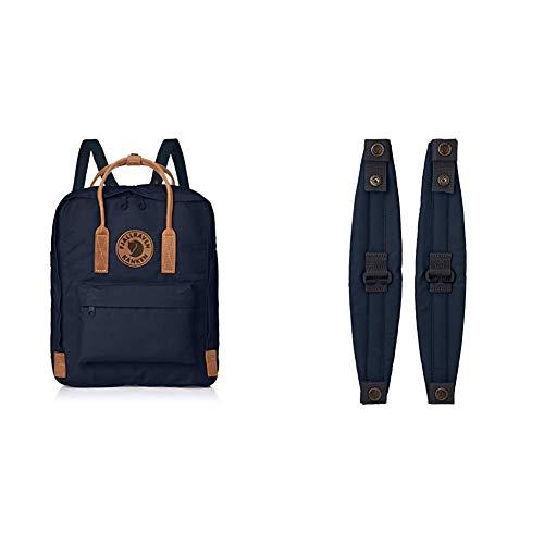 Fjällräven Unisex Rucksack Kånken No. 2, blau (Navy), 38 x 27 x 13cm, 16 liter, F23565-560 & Kånken Shoulder Pads Accessories Bags And Backpacks, Navy, 32 cm