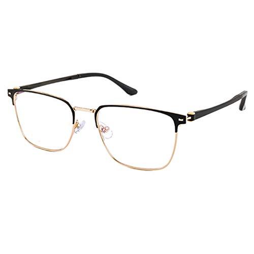 Reading glazen leesbril van metaal, halve fitting, veiligheidsbril van antislip silicone, frame licht TR90, voor dames en heren