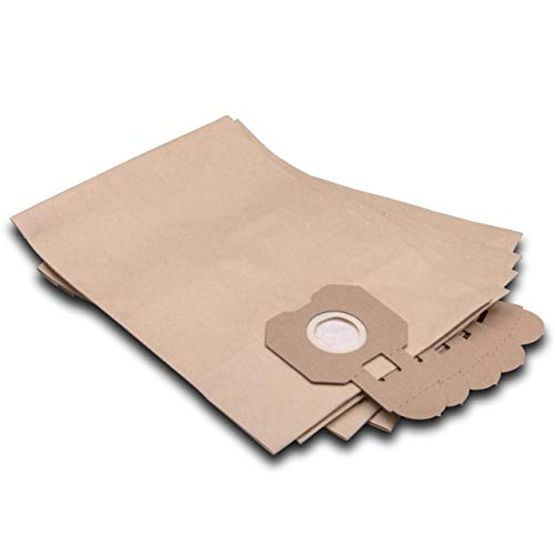 vhbw 5 Staubsaugerbeutel Filtertüten aus Papier für Staubsauger Saugroboter Mehrzwecksauger Hitachi CV 200 P, CV 300 P, CV 400 P eco