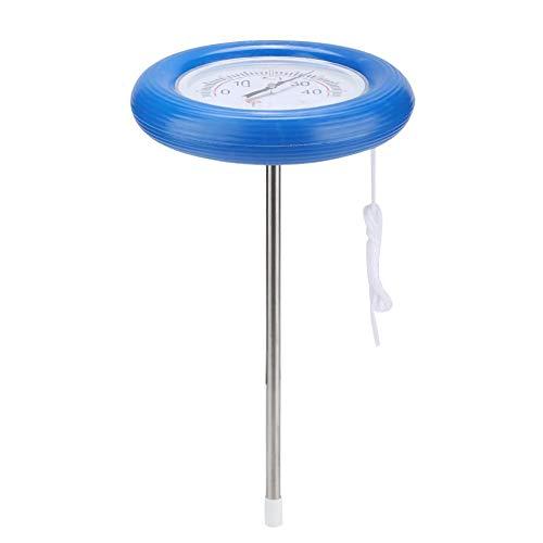 Agatige Rundes Wasserthermometer, schwimmendes Poolthermometer Leicht lesbar für Schwimmbäder, Spas, Whirlpool-Temperaturtest
