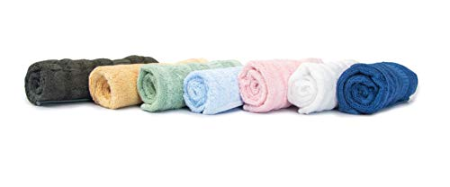 Mush Bamboo Face Towel Set of 7 - Assorted   100% Bamboo  Ultra Soft, Absorbent & Quick Dry Towel for facewash, Gym, Pool, Travel,...