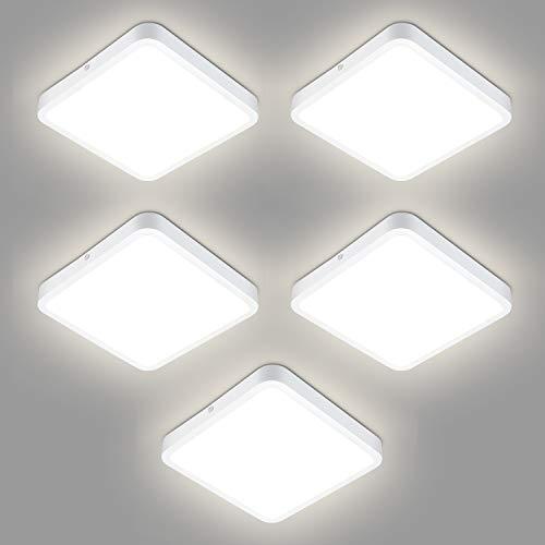 5er Oraymin LED Deckenleuchte, 18W Quadrat LED Panel Deckenlampe geeignet für Küche Balkon Schlafzimmer Korridor Wohnzimmer, Naturweiß 4000K, 1800LM (100LM / W)