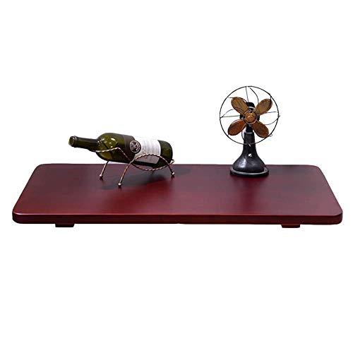 - Houten klaptafel Drop-down wandtafel/Rood-bruine keuken/studie/eettafel (optionele afmetingen) (afmetingen: 100x40 cm)