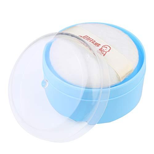 Minkissy Baby Puderquaste Tragbar Babypuder Puffbehälterbox Kind Bade Körper Puderdose Babykörper Pulverbehälter Hautfreundlich