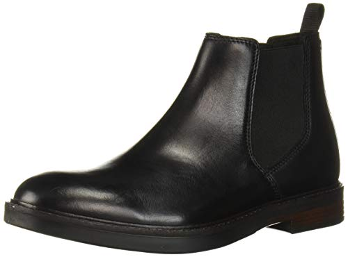 Clarks Men's Paulson Up Chelsea Boot, Black Leather, 105 M US