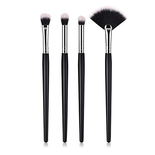 Letway Pinceau De Maquillage 4pcs Nylon en Bois Fan Hair Makeup Brush Set-Birthday Gift