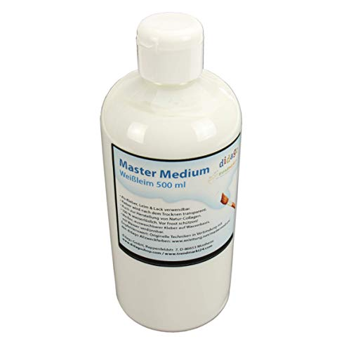 trendmarkt24 Bastelkleber Weißleim 1 Flasche 500ml wasserlöslicher Bastelleim Gute Klebeeigenschaft auswaschbar transparent nach Dem Trocknen Wasser verdünnbar 1510