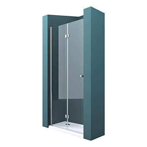 Mai & Mai Mampara de ducha de Nicho 100x190cm Puerta plegable con...