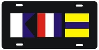 nautical flag license plate