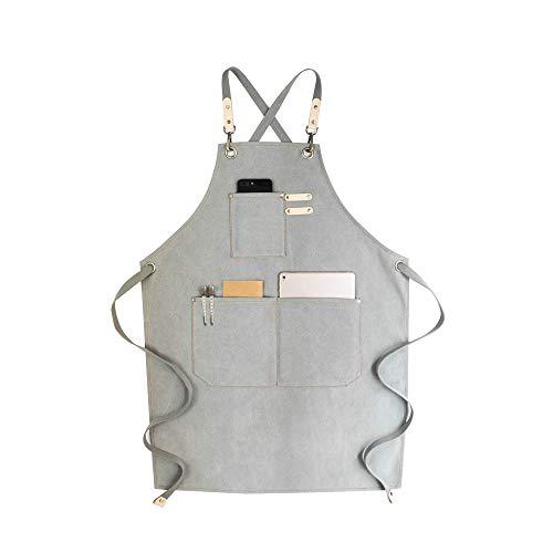 Denim-Schürze,verstellbare Multifunktionsarbeit Schürze mit Werkzeugtaschen mit...