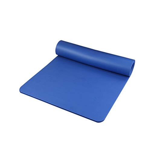 FOLOVE Nbr Anti-tear Pilates Food,Not-slip Sustainable Workout Mat,Eco Friendly Not-toxic Odorless Gym Mat For Yoga Pilates With Carry Strap And Travel Bag Blue 185x80x1cm