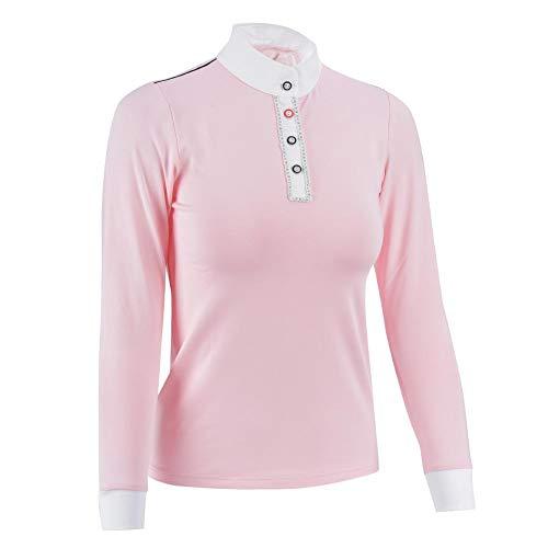 Redxiao 【𝐎𝐟𝐞𝐫𝐭𝐚𝐬 𝐝𝐞 𝐁𝐥𝐚𝐜𝐤 𝐅𝐫𝐢𝐝𝐚𝒚】 Ropa de Montar acrílica S/M, Camiseta para niñas, conducción Resistente al Desgaste Deportes al Aire Libre para niñas(Pink Long Sleeve, M)