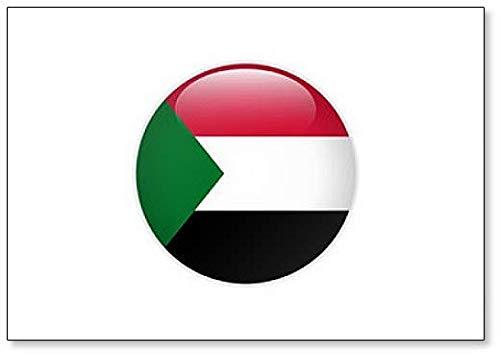 Kühlschrankmagnet, Sudan-Flagge auf Knopf, klassisch