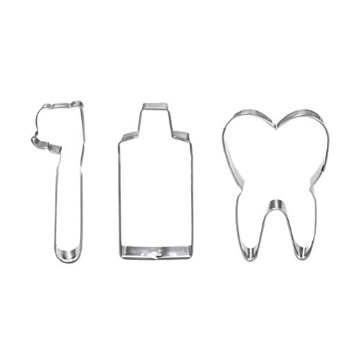 BESTONZON Ausstechformen Set, 3 stücke Edelstahl Ausstecher Diy Zahnbürste Zahnpasta Zahnform Formen Kekse Backform
