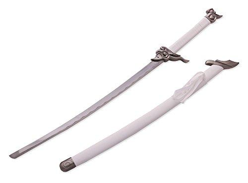 Vulcan Gear League of Legends Yasuo Unforgiven Game Play Cosplay Replica Katana Sword (White)