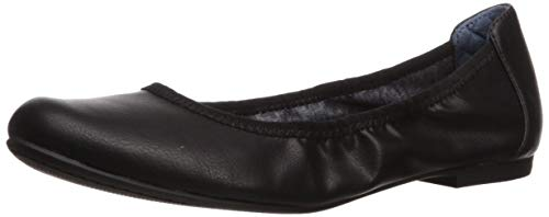 Dr. Scholl's Shoes Women's Feel Good Ballet Flat, Black Smooth, 10 M US