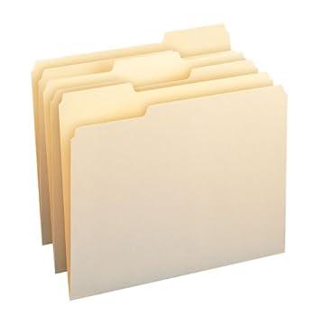 Smead File Folder 1/3-Cut Tab Assorted Position Letter Size Manila 200 Per Box  10382