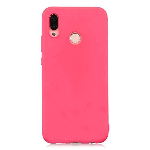 cuzz Custodia Huawei P20 Lite+{Film di Vetro temperato}Silicone TPU Cover Morbida Protettiva Custodia Ultra Sottile Leggero Cover-Rosso