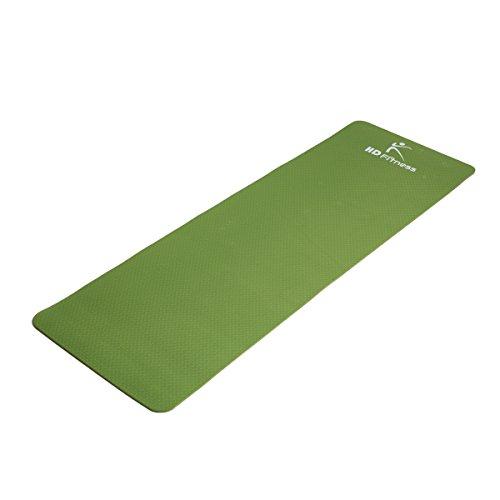 HD Fitness Gym und extra Dicke und weiche Matten, TPE, insgesamt 8 Farben. Ideal Pilates Yoga, Fitness Workout/Größe: 183 x 61cm Dicke 0.8cm (Army grün), SGS geprüft