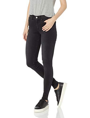 Amazon Brand - Daily Ritual Women's Mid-Rise Skinny Jean, Gunmetal, 32 (14) Regular