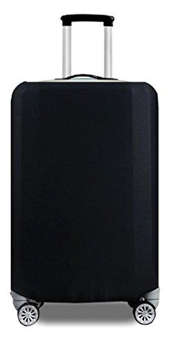 【nuage mauve】伸縮素材 スーツケース カバー 選べる 柄 バリエーション (02 ブラック M) 超 軽量 ネーム タグ 防水 横型 製 2輪 静音 ストッパー カワイイ 可愛い