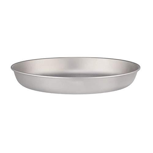 Lixada - Plato de titanio ultraligero para cena y fruta, 700