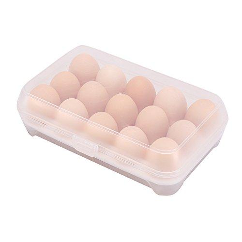 Milopon Eierhalter Eierablage für Kühlschrank Eier Aufbewahrungsbox Multifunktionsbox Transportbox Kühl-/Gefrierkombination, Einbaukühlschrank aller gängigen Fabrikate (weiß)